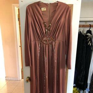 Women's beaded formal dress